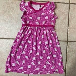 Size 8 Pink Chinese Lanterns Tea Collection Dress